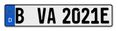 E-Kennzeichen für Fahrradträger