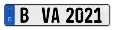 Kennzeichen für Fahrradträger